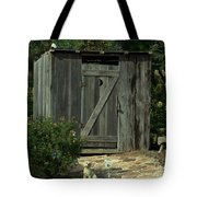 The Double Seat Outhouse Tote Bag