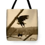 The Eagle Flies With The Crow Tote Bag