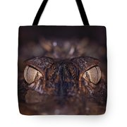 The Eyes Of A Crocodilian Tote Bag