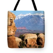 The Face Of Arches Tote Bag