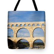 The Famous Pont Du Gare In France Tote Bag