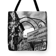The Feast In Black And White Tote Bag