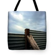 The Fence The Sky And The Beach Tote Bag