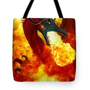 The Fire Dragon Tote Bag