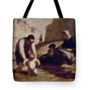 The First Bath  Tote Bag by Honore Daumier