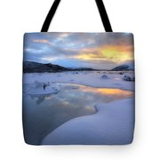 The Fjord Of Tjeldsundet In Troms Tote Bag