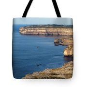 The Flight Over Dwejra  Tote Bag