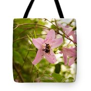 The Flower And The Bumble Bee Tote Bag