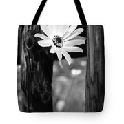 The Flower Bw Tote Bag