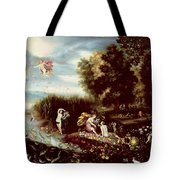 The Four Elements  Tote Bag by Flemish School