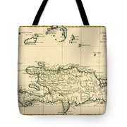 The French And Spanish Colony Of The Island Of St Dominic Of The Greater Antilles Tote Bag by Guillaume Raynal