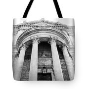 The Front Of St Paul's Cathedral Tote Bag