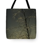 The Frozen Branches Of A Small Tree Tote Bag