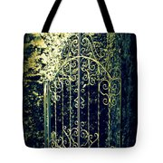The Gate In The Grotto Of The Redemption Iowa Tote Bag