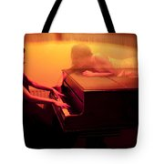 The Girl And The Ghost Tote Bag