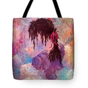 The Girl Of Many Colors Tote Bag