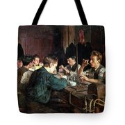 The Glass Blowers Tote Bag by Charles Frederic Ulrich