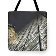 The Glass Pyramid And The Louvre At Dusk Tote Bag