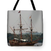 The God Speed Tall Ship Tote Bag