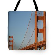 The Golden Gate Bridge At Dawn Tote Bag