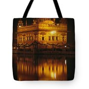 The Golden Temple Is Reflected Tote Bag