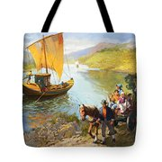 The Grape-pickers Of Portugal Tote Bag by van der Syde