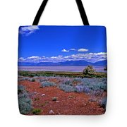 The Great Salt Lake From Antelope Island Tote Bag