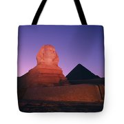 The Great Sphinx Is Illuminated Tote Bag