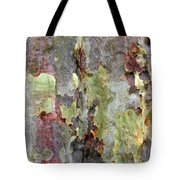 The Green Bark Of A Tree Tote Bag