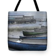 The Green Canoe Tote Bag by Debra and Dave Vanderlaan
