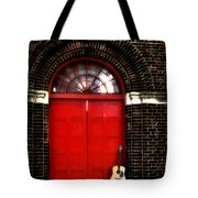 The Guitar And The Red Door Tote Bag
