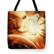 The Hand Of Destiny Nebula Is Devouring Tote Bag