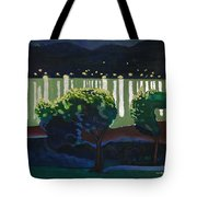 The Hardanger Fjord By Night. Tote Bag