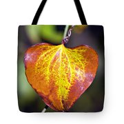 The Heart Of Autumn Tote Bag