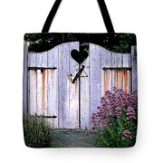 The Heart, Like An Old Gate Needs Care And Attention Tote Bag