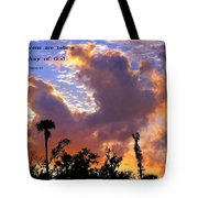 The Heavens Tell Tote Bag