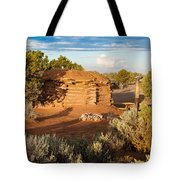 The Hogan Where  We Stayed Canyon Dechelly Nps Tote Bag