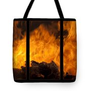 The Home Fires Are Burning Triptych Tote Bag