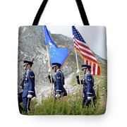 The Honor Guard Posts The Colors Tote Bag