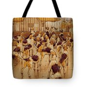 The Hounds Began Suddenly To Howl In Chorus  Tote Bag