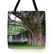 The House Beside The Banyan Tree Tote Bag