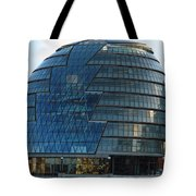 The Imposing Glass Greater London Mayoral Building On The Banks Of The Thames Tote Bag