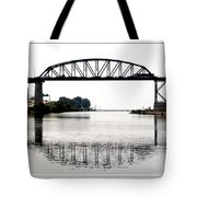 The International Peace Bridge Between The United States  And Canada Tote Bag