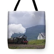 The Jacobite Express At Lochailort Church Tote Bag