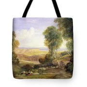 The Junction Of The Severn And The Wye With Chepstow In The Distance Tote Bag