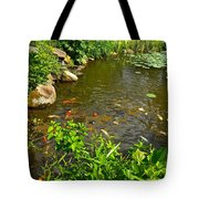 The Koi Are Feeding Tote Bag