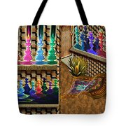 The Lamp And Bottle Bazaar Tote Bag
