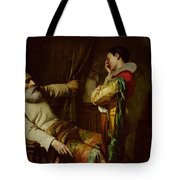 The Last Moments Of Christopher Columbus  Tote Bag by Claude Jacquand