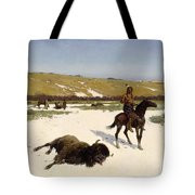The Last Of The Herd Tote Bag by Henry Francois Farny