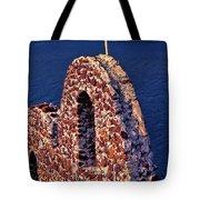 The Last Wall Standing Santorini Greece Tote Bag